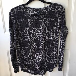 Black and white cheetah print from fitting top!